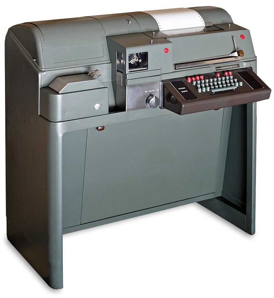 Teletype Model 28 ASR (Automatic Send Receive) at our Printing Facility
