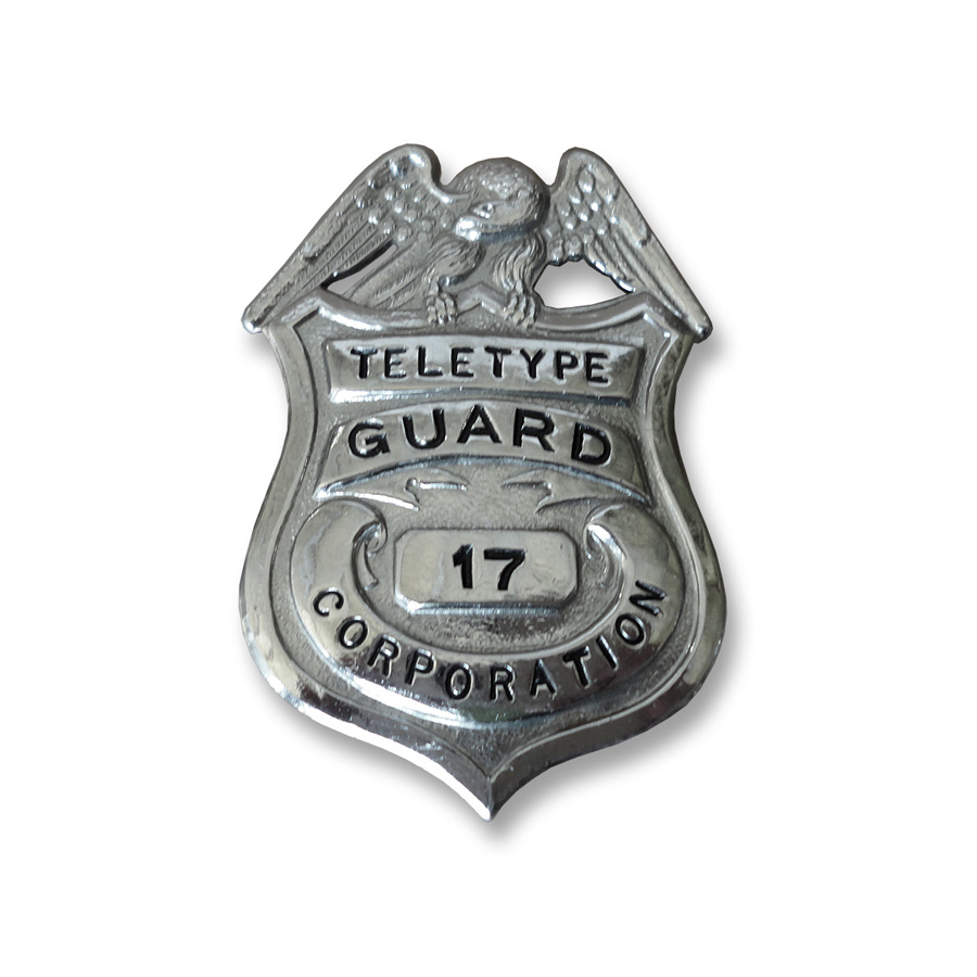 Teletype Corporation Guard Badge